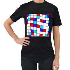 Colorful cubes  Women s T-Shirt (Black) (Two Sided)