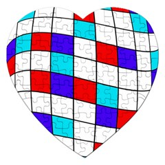 Colorful cubes  Jigsaw Puzzle (Heart)