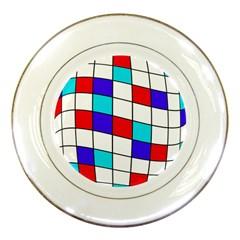 Colorful cubes  Porcelain Plates