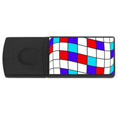 Colorful cubes  USB Flash Drive Rectangular (4 GB)