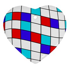 Colorful cubes  Heart Ornament (2 Sides)
