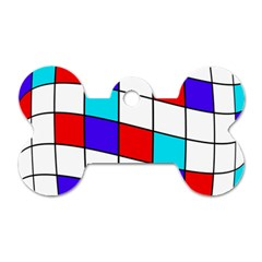 Colorful cubes  Dog Tag Bone (Two Sides)