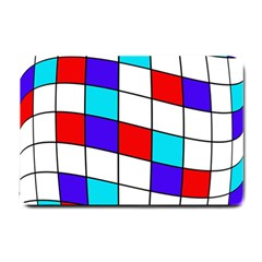 Colorful cubes  Small Doormat