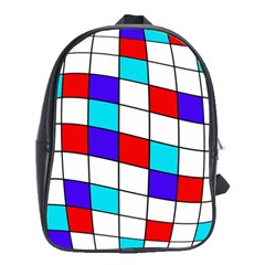 Colorful cubes  School Bags(Large)