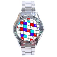 Colorful cubes  Stainless Steel Analogue Watch