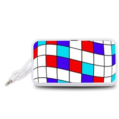 Colorful cubes  Portable Speaker (White)