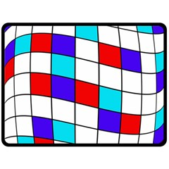 Colorful cubes  Double Sided Fleece Blanket (Large)
