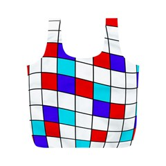 Colorful cubes  Full Print Recycle Bags (M)