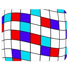 Colorful cubes  Double Sided Flano Blanket (Medium)