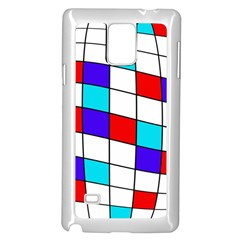 Colorful cubes  Samsung Galaxy Note 4 Case (White)