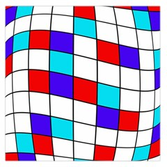 Colorful cubes  Large Satin Scarf (Square)