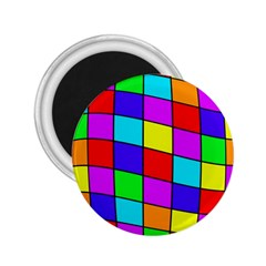 Colorful cubes 2.25  Magnets