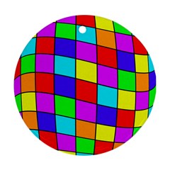 Colorful cubes Ornament (Round)