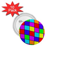 Colorful cubes 1.75  Buttons (10 pack)