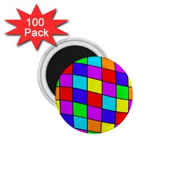 Colorful cubes 1.75  Magnets (100 pack)