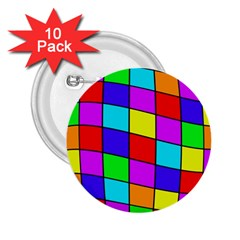 Colorful cubes 2.25  Buttons (10 pack)