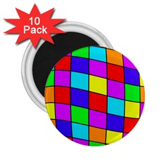 Colorful cubes 2.25  Magnets (10 pack)