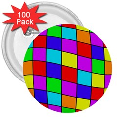 Colorful cubes 3  Buttons (100 pack)