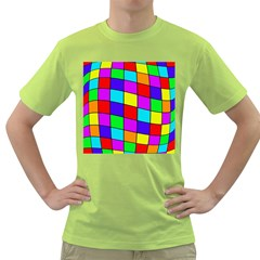 Colorful cubes Green T-Shirt