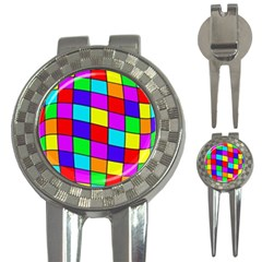 Colorful cubes 3-in-1 Golf Divots