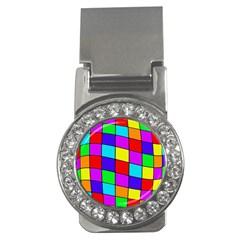 Colorful cubes Money Clips (CZ)
