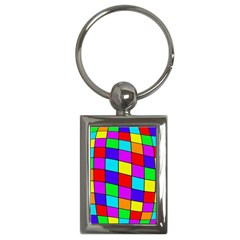 Colorful cubes Key Chains (Rectangle)