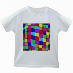 Colorful cubes Kids White T-Shirts
