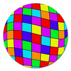 Colorful cubes Magnet 5  (Round)