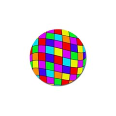 Colorful cubes Golf Ball Marker