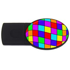 Colorful cubes USB Flash Drive Oval (1 GB)