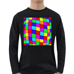 Colorful cubes Long Sleeve Dark T-Shirts