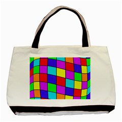 Colorful cubes Basic Tote Bag