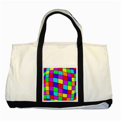 Colorful cubes Two Tone Tote Bag