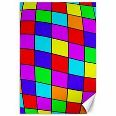 Colorful cubes Canvas 12  x 18