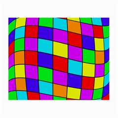 Colorful cubes Small Glasses Cloth (2-Side)
