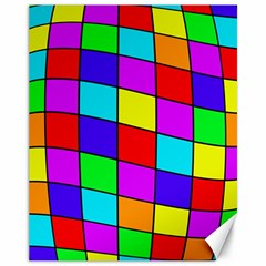 Colorful cubes Canvas 11  x 14