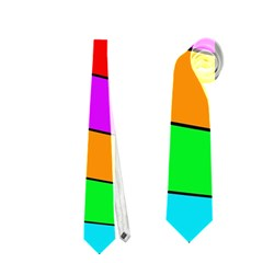 Colorful Cubes Neckties (one Side)