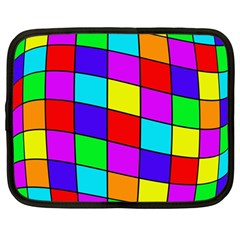 Colorful cubes Netbook Case (Large)