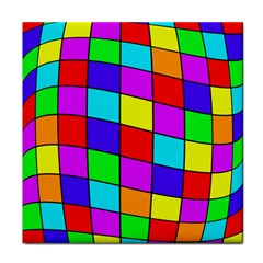 Colorful cubes Face Towel