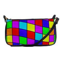 Colorful cubes Shoulder Clutch Bags
