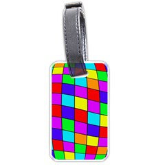 Colorful cubes Luggage Tags (One Side)