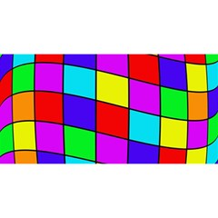 Colorful cubes YOU ARE INVITED 3D Greeting Card (8x4)