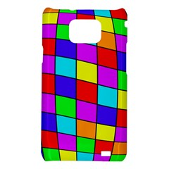 Colorful cubes Samsung Galaxy S2 i9100 Hardshell Case