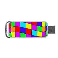 Colorful cubes Portable USB Flash (Two Sides)