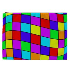 Colorful cubes Cosmetic Bag (XXL)