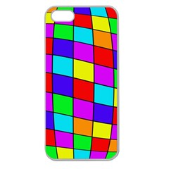 Colorful cubes Apple Seamless iPhone 5 Case (Clear)