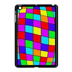 Colorful cubes Apple iPad Mini Case (Black)