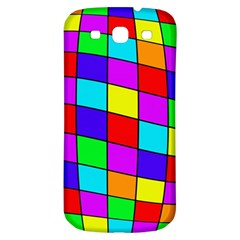 Colorful cubes Samsung Galaxy S3 S III Classic Hardshell Back Case