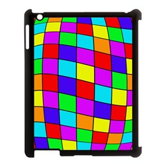 Colorful cubes Apple iPad 3/4 Case (Black)