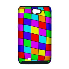 Colorful cubes Samsung Galaxy Note 2 Hardshell Case (PC+Silicone)